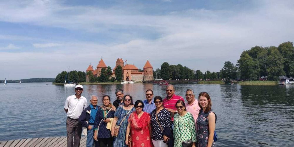 With guest from India in Trakai